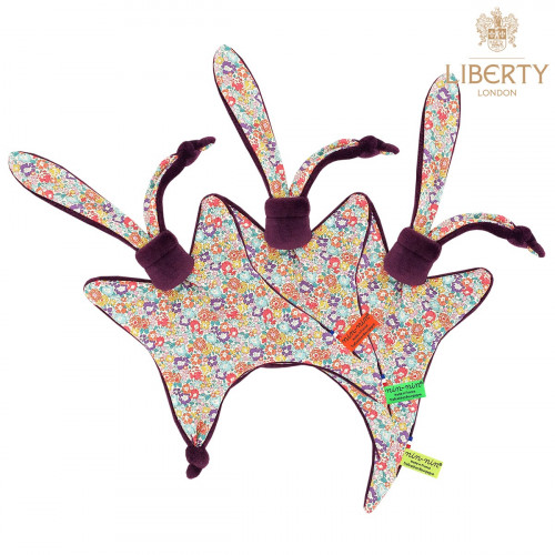 Doudou étiquettes Le Victoria Liberty of London. Cadeau de naissance original personnalisable et made in France.