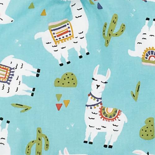 Tissu doudou lama. Cadeau de naissance original personnalisable et made in France.