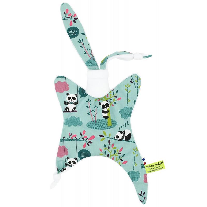 Doudou Panda. Cadeau de naissance original personnalisable et made in France.