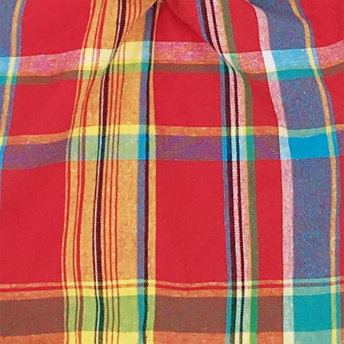 Tissu doudou madras. Cadeau de naissance original personnalisable et made in France.