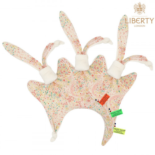 Étiquettes doudou personnalisable Le Poppy Liberty of London. Style Jacadi. Cadeau de naissance original et made in France.