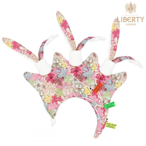 Étiquettes doudou Le Margaret Liberty of London. Style Jacadi. Cadeau de naissance personnalisable, original et made in France.