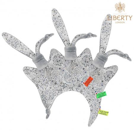 Etiquettes doudou Le Jack Liberty of London. Style Jacadi. Cadeau de naissance personnalisable, original et made in France.