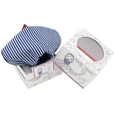 Cube doudou Jean Paul Gaultier. Cadeau personnalisable et fabriqué en France. Marque Nin-Nin