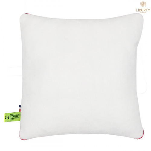 Vue de dos coussin Margaret Liberty of London. Cadeau de naissance original personnalisable et made in France. Nin-Nin