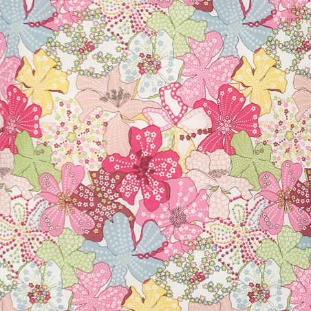 Tissu coussin Margaret Liberty of London. Cadeau de naissance original personnalisable et made in France. Nin-Nin