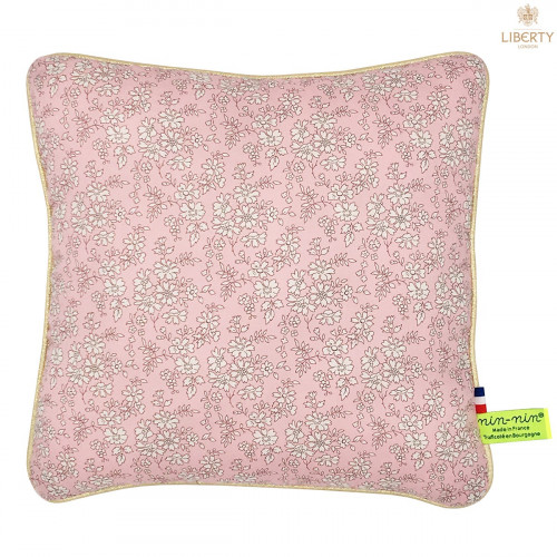 Coussin Thelma Liberty of London. Cadeau de naissance original personnalisable et made in France. Nin-Nin