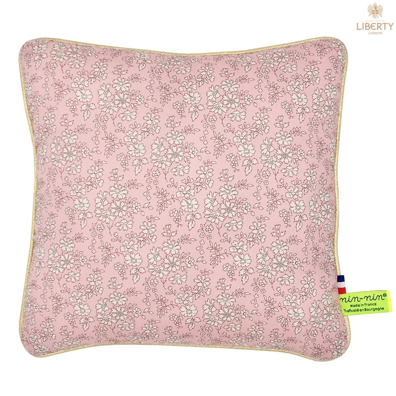 Personalised pillow Le Thelma Liberty of London collection. Original, extremely soft and made in France. Nin-Nin
