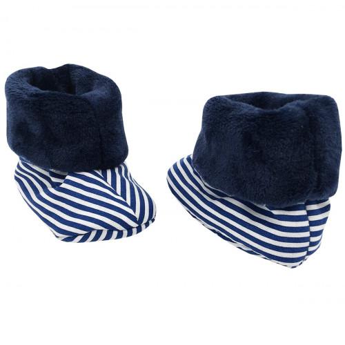 Chaussons chauds Jean Paul Gaultier pour bébé. Cadeau de Naissance Made in France. Nin-Nin