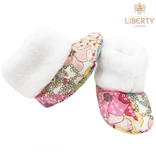 Chaussons hauts botton Margaret Liberty of London pour bébé. Cadeau de Naissance Made in France. Nin-Nin
