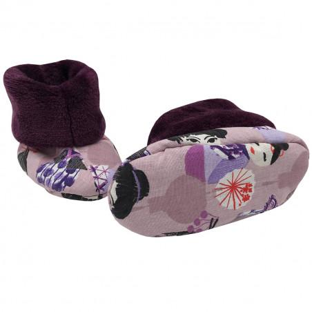 Bottons Minoshi Geishas pour bébé. Cadeau de Naissance Made in France. Nin-Nin