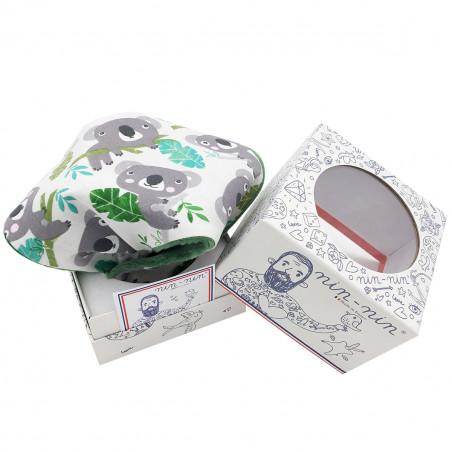 Boite doudou Le Koala. Cadeau de naissance personnalisable et made in France. Marque Nin-Nin