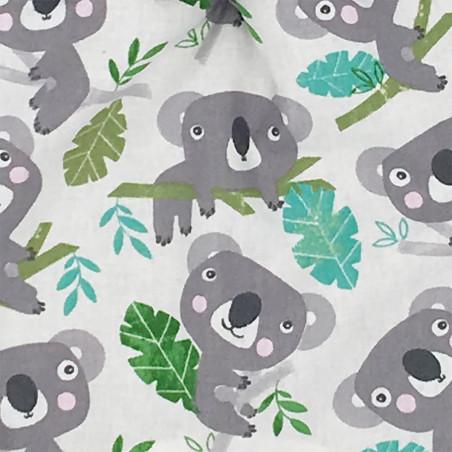 Tissu doudou Le Koala. Cadeau de naissance personnalisable et made in France. Marque Nin-Nin
