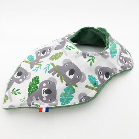 Bavoir Koala. Original et fabriqué en France. Marque Nin-Nin