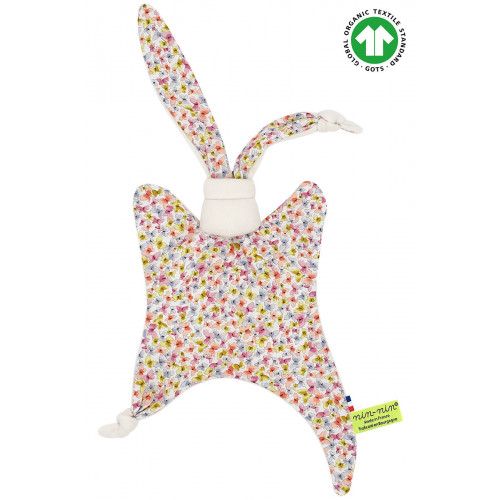 Butterfly baby comforter. Original organic soft toy made in France. French brand Nin-Nin