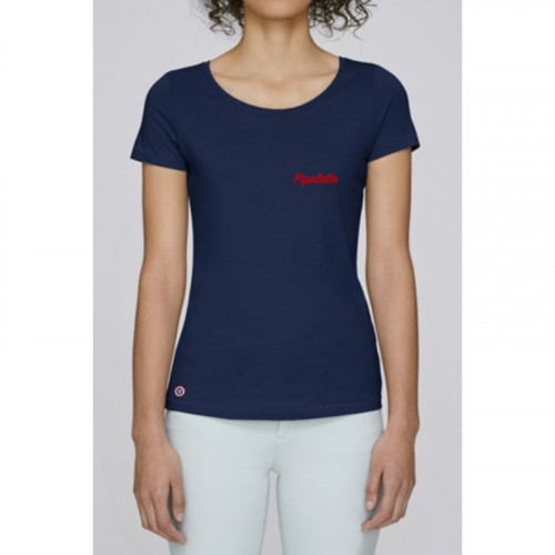 T-shirt navy pour femme à personnaliser. Made in France
