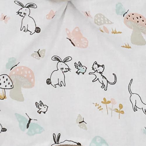 Tissu doudou lapin de pâques. Cadeau de naissance personnalisable et made in France. Marque Nin-Nin