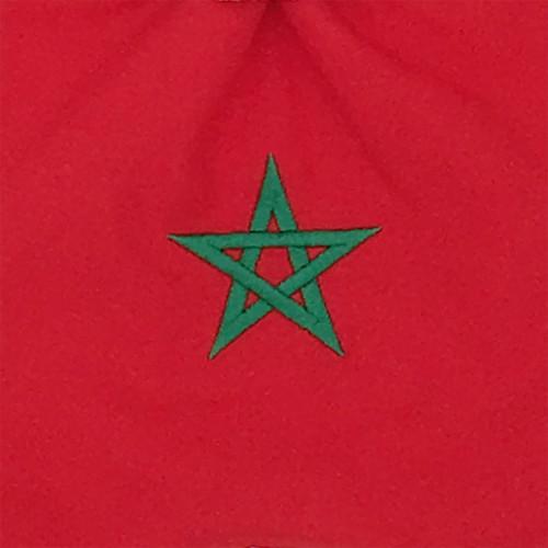 Tissu broderie doudou Le Marocain. Cadeau de naissance original personnalisable et made in France. Marque Nin-Nin