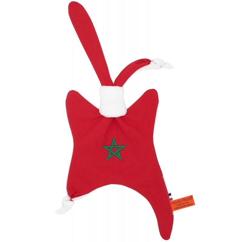 Doudou Le Marocain. Cadeau de naissance original personnalisable et made in France. Marque Nin-Nin