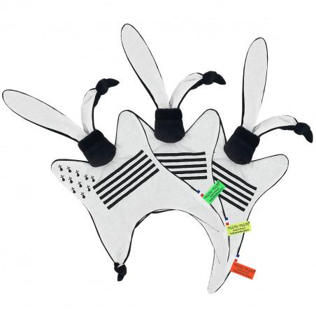 Doudou étiquettes Breton personnalisable. Cadeau de naissance original et made in France. Nin-Nin