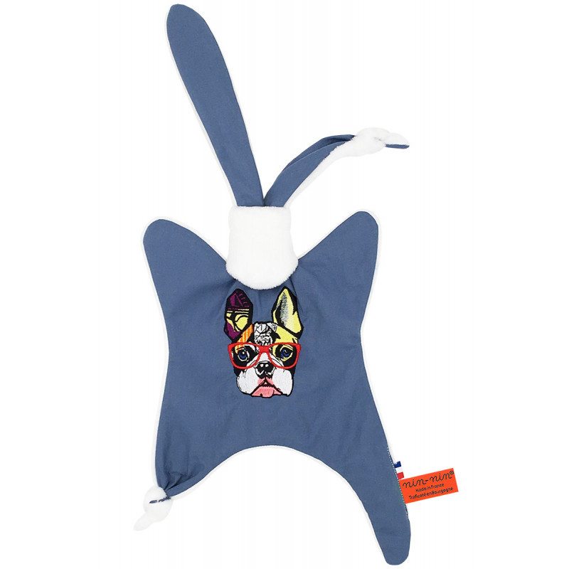 Doudou personnalisable pour adulte Le French Bulldog. Cadeau original et made in France. Nin-Nin