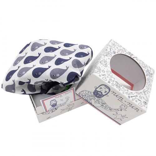 Peluche baleines. Cadeau de naissance personnalisable et made in France. Marque Nin-Nin
