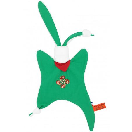 Doudou Basque personnalisable. Cadeau de naissance original et made in France. Nin-Nin