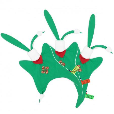 Doudou étiquettes Basque personnalisable. Cadeau de naissance original et made in France. Nin-Nin