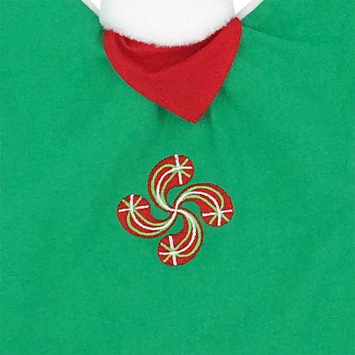 Doudou broderie croix Basque personnalisable. Cadeau de naissance original et made in France. Nin-Nin