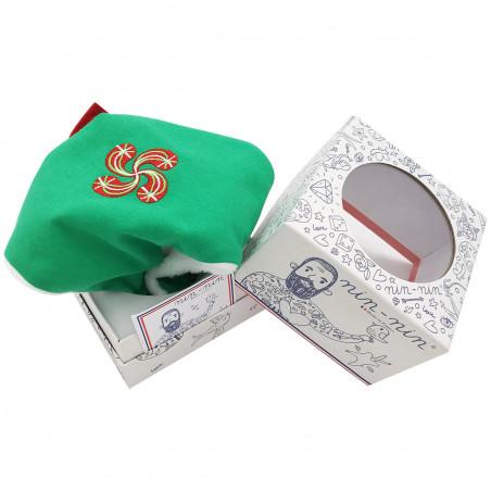 Peluche Basque personnalisable. Cadeau de naissance original et made in France. Nin-Nin