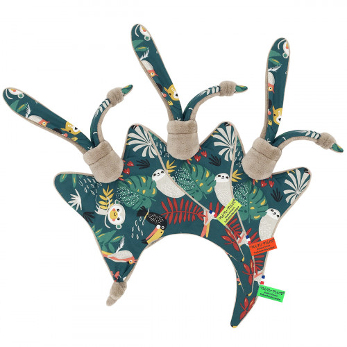 Etiquettes doudou Le Tropical camel. Cadeau de naissance original et made in France. Nin-Nin