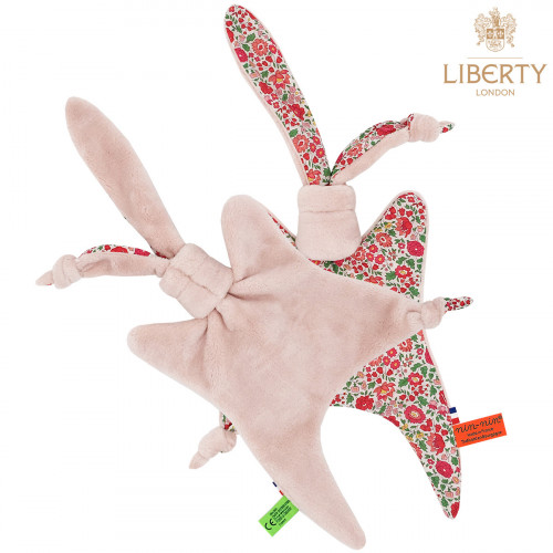 Côté peluche doudou plat Le Joy Liberty of London. Cadeau de naissance original personnalisable et made in France. Nin-Nin