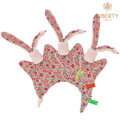 Étiquettes doudou plat Le Joy Liberty of London. Cadeau de naissance original personnalisable et made in France. Nin-Nin