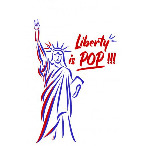 Broderie Statue de la liberté. Fabrication Française