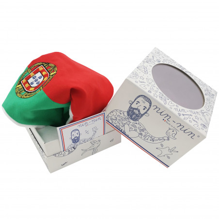 Boite doudou Le portugais. Cadeau de naissance original personnalisable et made in France. Nin-Nin