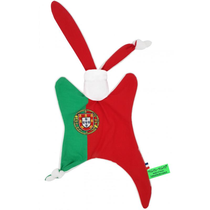 Doudou Le portugais. Cadeau de naissance original personnalisable et made in France.