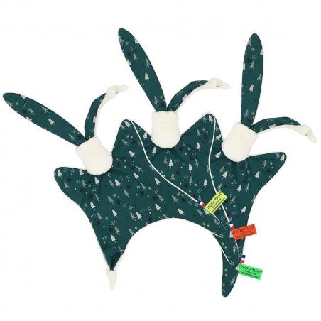 Etiquettes doudou de Noël le Forêt Noir. Cadeau de naissance personnalisé, original et made in France. Doudou Nin-Nin