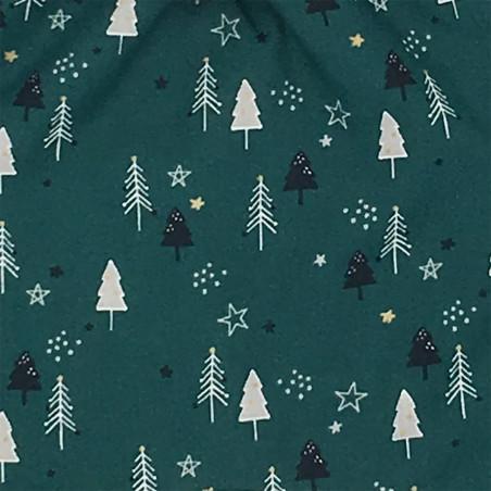 Tissu doudou de Noël le Forêt Noir. Cadeau de naissance personnalisé, original et made in France. Doudou Nin-Nin