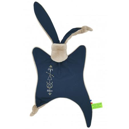 Doudou astrologie Le Bélier. Cadeau de naissance personnalisé, original, signe du zodiaque. Cadeau de baptême doudou Nin-Nin
