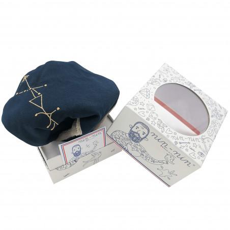 Boite cadeau doudou astrologie Le Bélier. Cadeau de naissance personnalisé, original, signe du zodiaque. Doudou Nin-Nin