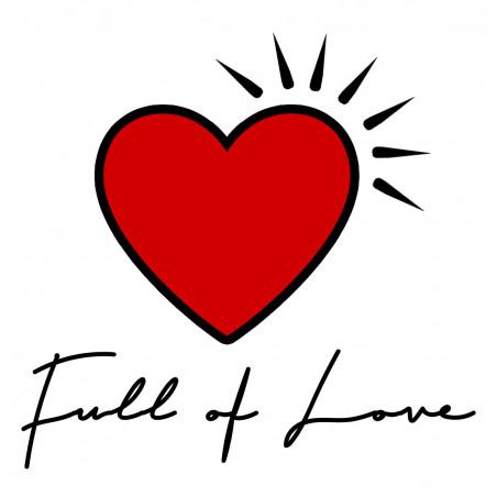 Broderie doudou Full of love spécial Saint valentin. Cadeau de naissance made in France. Doudou Nin-Nin