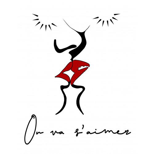Broderie doudou On va s'aimer spécial Saint valentin. Cadeau de naissance made in France. Doudou Nin-Nin