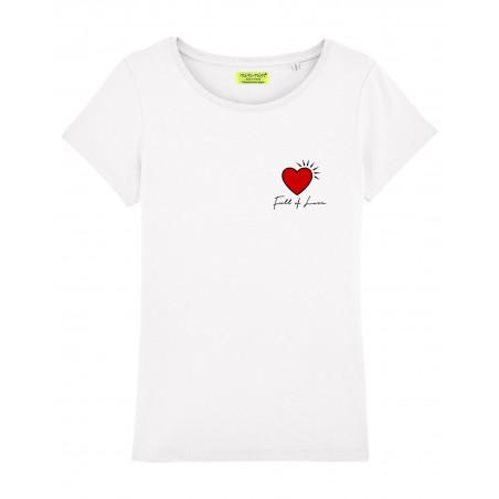 """T-shirt pour femme """"Full of love"""". Cadeau original pour la Saint-Valentin. Fabrication Française"""