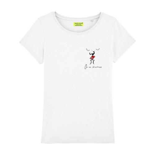 """T-shirt pour femme """"On va s'aimer"""". Cadeau original pour la Saint-Valentin. Fabrication Française"""