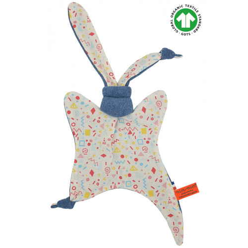 Doudou Bio Le POP. Cadeau de naissance GOTS, original et made in France. Nin-Nin