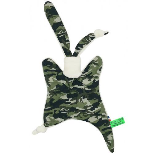 Doudou militaire. Cadeau de naissance personnalisable et made in France. Doudou Nin-Nin