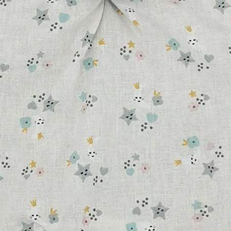 Tissu doudou étoilé. Cadeau de naissance personnalisable et made in France. Marque Nin-Nin