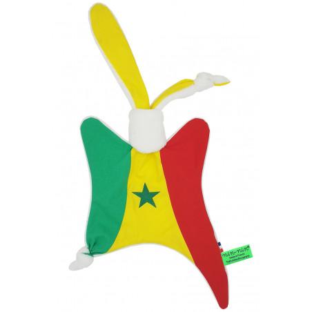 Doudou personnalisé Le Sénégalais. Cadeau de naissance original personnalisable et made in France. Doudou Nin-Nin