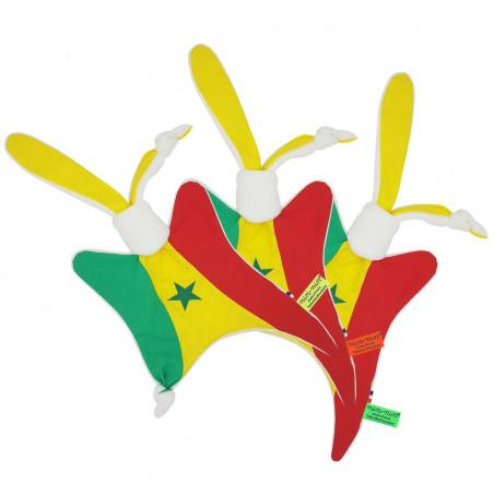 Etiquettes doudou personnalisé Le Sénégalais. Cadeau de naissance original personnalisable et made in France. Nin-Nin