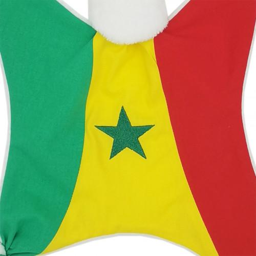 Broderie doudou personnalisé Le Sénégalais. Cadeau de naissance original personnalisable et made in France. Nin-Nin